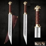 High Quality Merovingian/Viking Seax Or Sax  With Leather Sheath